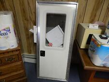 """Camper Door/RV, 22"""" X 51"""".  With Screen Door, Frame, Locks & Keys , White,"""