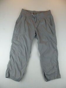 North Face Womens Gray Capri Stretch LightWeight Hiking Pants Size Medium
