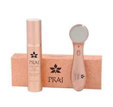 PRAI Ageless Throat Ionic Device Rose Gold + Ageless Throat Ionic Serum 50ml