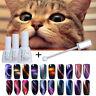 3stk 3D Katze Auge Nagel Soak Off UV Gellack & Magie Tafel Set Born Pretty