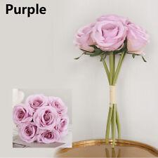Large Artificial Velvet Effect Rose Bouquet Silk Flowers Floral Wedding Decor  +