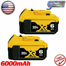 2 Pack Replacement Battery For DeWalt 20V 20 Volt Max 6.0AH Lithium Ion DCB206-2