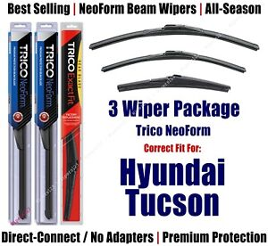 3-Pack Wipers Front & Rear NeoForm - fit 2016+ Hyundai Tucson - 16260/160/14A
