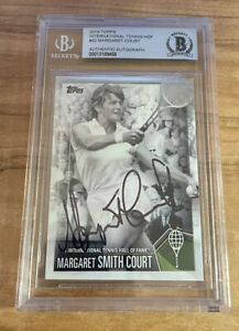 MARGARET COURT SIGNED 2019 TOPPS TENNIS HALL OF FAME CARD BECKETT CERTIFIED