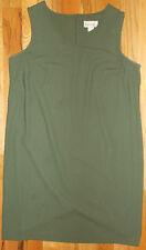 Dressbarn Dress Shift XL 20-22 Womens Green Zipper Knee Length 4R8