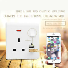Dual USB Wall Charger Plug Plate Panel Receptacle Power Socket Adapter UK Plug