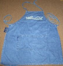 Denim Apron The Pampered Chef 30inch by 25inch adjustable ties clean no stains