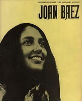 JOAN BAEZ 1967 JOAN UK TOUR CONCERT PROGRAM BOOK BOOKLET / EX 2 NEAR MINT