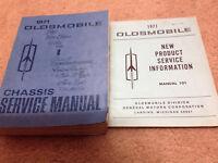 1971 OLDSMOBILE OLDS Cutlass 442 W30 Service Shop Repair Manual Set W Product Bk