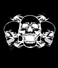 Triple Skull's Tribal Vinyl Decal Sticker Car Truck Window