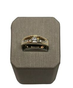 14k Solid Yellow Gold Engagement Diamond Ring