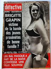 DETECTIVE 24/06/1971; Brigitte Grapin victime des jeunes proxénètes/ Comtesse so