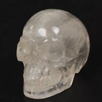 3'' Natural Clear Quartz Hand Carved Crystal Magic Skull Reiki Healing Specimen