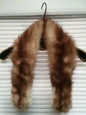 Vintage,attachable, Real Fur Collar, Light Brown, Scarf, costume,stage,Fur