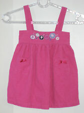 WONDERKIDS Size 18 Months Pink Corduroy Sleeveless Dress