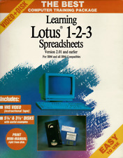 Vintage Learning Lotus 123 Computer Training Package 1990 Mint
