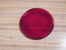 """8"""" round candle stand redfits 7"""" round candle..used glass decorative washable"""