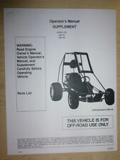 Manco Model 285-191 285-192 Go Kart Parts List Operators Manual Cart