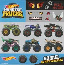 2018 HOT WHEELS Monster Trucks Promo 5x5 Decal Sticker Sheet