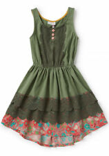 NWT Matilda Jane Peaceful Plains Green Dress Girls Size 14 Camp New