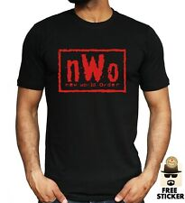 NWO Wrestling T-shirt New World Order RED Print Wolfpac Adult Kids Tee ALL SIZES
