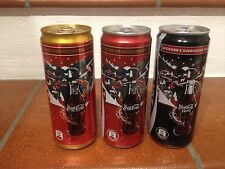 """3 Lattine Coca-Cola 330ML""""Accendi L'emozione del Natale""""Italia 09 Piene"""