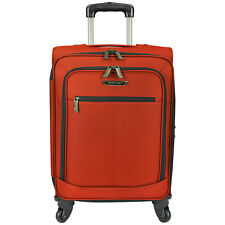 "Traveler's Choice Orange 22"" Carry-on Light Expandable Spinner Luggage Suitcase"