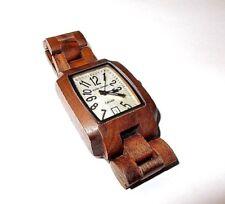 Tense TIMBER Men's Solid Karri Wood Hypoallergenic Watch J8102R White Face