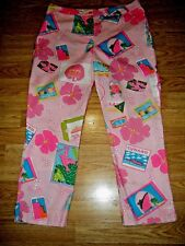 LILLY PULITZER PINK PRINT STRETCH COTTON CAPRIS SIZE 8