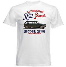 Vintage Coche francesa Peugeot 204 Sedan-Nuevo Algodón Camiseta