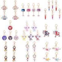 Charming 3D Rhinestone Crystal Pendant Keyring Keychain Purse Bag Key Chains NEW