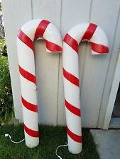 "2 Empire 40"" Candy Canes Lighted Christmas Blow Mold Outdoor Yard Decor"