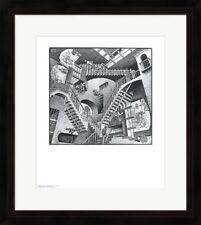 """Framed Art, """"Relativity"""", by M.C. Escher, 32x26"""