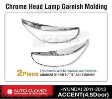 Chrome Headlight Lamp Garnish Molding B722 Fit HYUNDAI 2011-2017 Accent Verna
