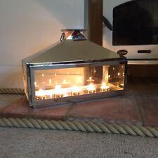 Garden Tea Light Candle Lantern Holder Sivler Hamptopn Romantic Home Lantern
