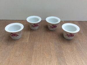 4 x Eierbecher Seltmann Weiden Annabell rosa weiß