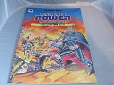 Golden Captain Power Soldiers color game board / activity book New unused 1987