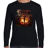 Black Veil Brides Vale Long Sleeve Black T-Shirt Size S to 3XL