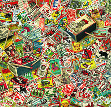 3 Sheets Gift Wrap Matchbox Labels Pack Paper World Poster 50 x 70 cm