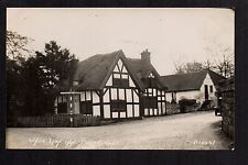 Barthomley near Crewe - White Lion Inn - real photographic postcard
