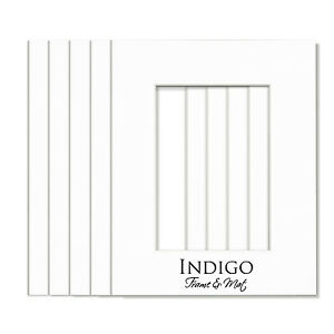 Set of 5 - 11x14 White Single Mats to fit 8x10 image,  with backings