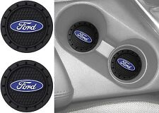 (2) Plasticolor 000651R01 Ford Oval Cup Holder Coaster Universal New Free Ship