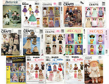 Choice: Doll Making Doll Clothes Craft Sewing Patterns McCall's Simplicity Butte