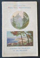 Brochure touristique ALPES FRANÇAISES COTES D'AZUR Menton Chemin de Fer PLM