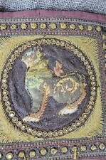 Vintage Embroidered Burmese Elephant Kalaga… silk, Foo Dog Cushion Cover...