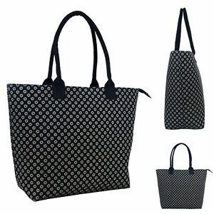 Women Designer Shoulder Bag Tote Large Handbag Office BAG DOTS BLACK 3151 SALE