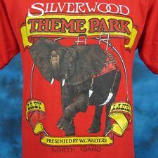 vintage 80s SILVERWOOD THEME PARK ELEPHANT IDAHO T-Shirt S/M carnival amusement