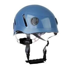 Outdoor Rock Climbing Abseiling Safety Helmet Caving Rescue Equipment Blue