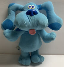 "Vtg 1997 Tyco Blues Clues SING ALONG BLUE 12"" Talking Stuffed Plush TESTED WORKS"