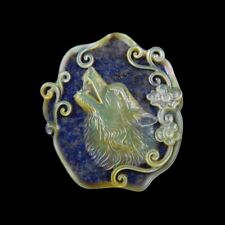 Carved Wolf MOP Pearl CAB GG001105